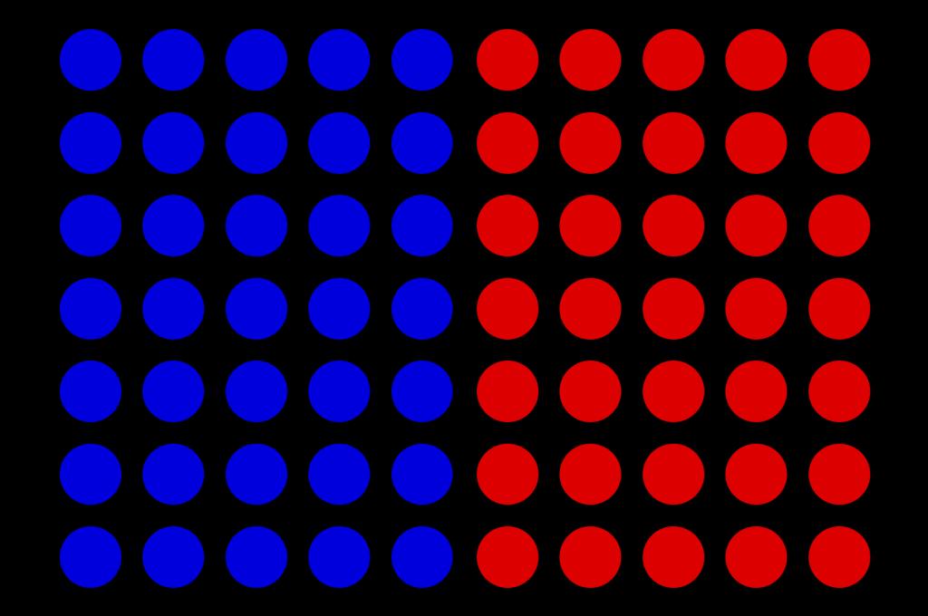 blue n red